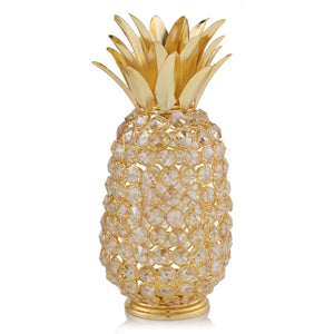 "11"" Faux Crystal and Gold Pineapple Sculpture - Buy JJ's Stuff"
