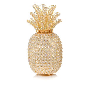 "15"" Faux Crystal and Gold Pineapple Sculpture - Buy JJ's Stuff"
