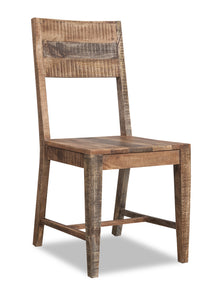Set of 2 Solid Mango Wood Dining Chairs - Buy JJ's Stuff