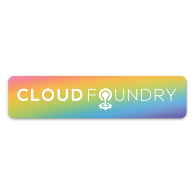 Cloud Foundry Pride Decal