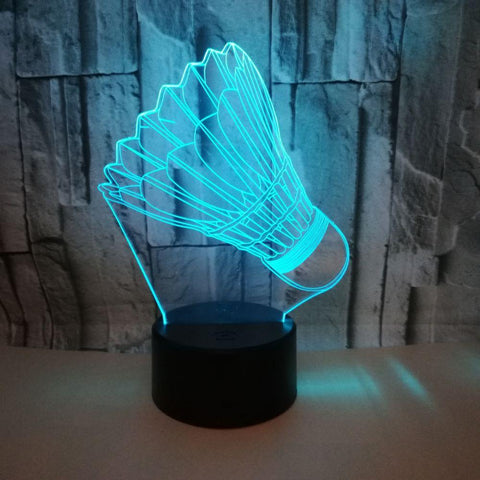 STA 3D Badminton Shuttlecock Night Light LED Colorful - Supreme Tennis Athletes