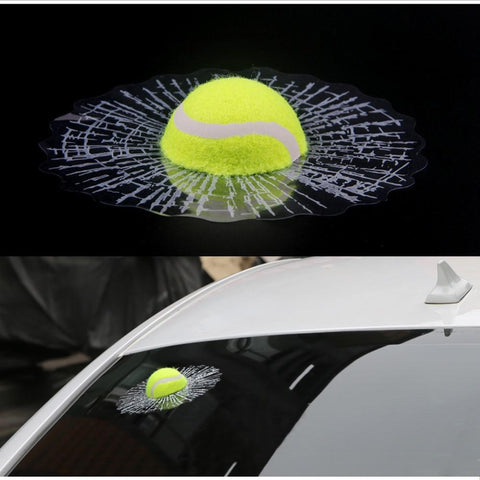 STA 3D Car Sticker Funny Tennis Ball - Supreme Tennis Athletes