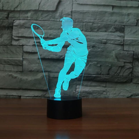 STA 3D Men's Tennis Night Light LED Colorful - Supreme Tennis Athletes
