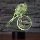 STA 3D Tennis Racket And Ball Night Light LED Colorful - Supreme Tennis Athletes