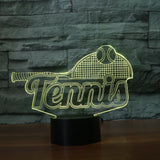 STA 3D Tennis Racket Night Light LED Colorful - Supreme Tennis Athletes