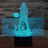 STA 3D Women's Tennis Night Light LED Colorful - Supreme Tennis Athletes