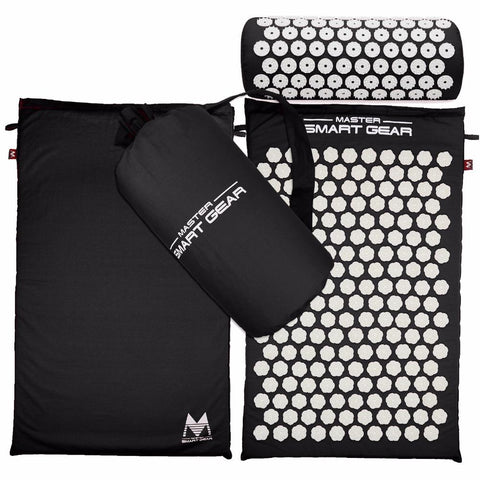 STA Elite Acupressure Mat And Pillow Set For Back/Neck Relief/ Advanced Recovery - Supreme Tennis Athletes