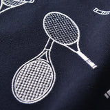STA Premium Short Sleeve Casual Tennis Racquet Embroidery - Supreme Tennis Athletes