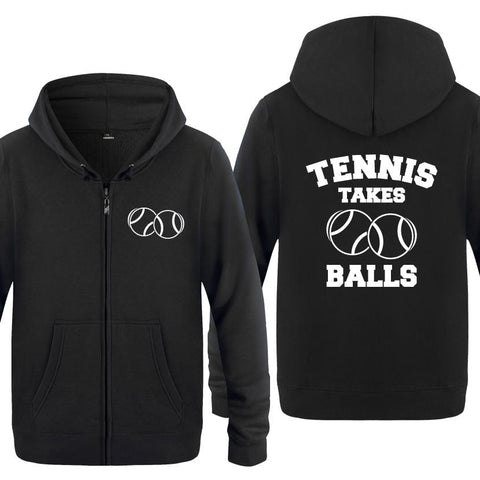 STA Tennis Takes Balls Men's Hoodie - Supreme Tennis Athletes