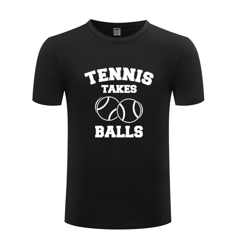 STA Tennis Takes Balls Men's Shirt - Supreme Tennis Athletes