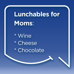 Funny Mom Quotes. Smile, Shop, then Share on Instagram, Facebook, Pinterest & Twitter. Lunchables for Moms: wine, cheese, chocolate.