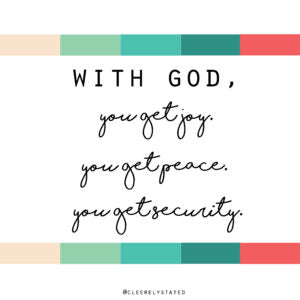 Joy, Peace & Security are yours.