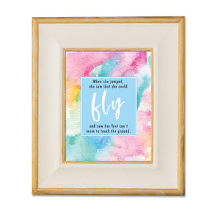 Fly - Watercolor Print Wall Print