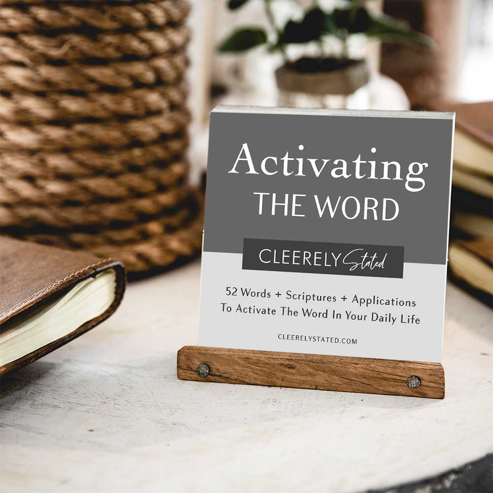 Activating the Word Collection w/Wooden Stand