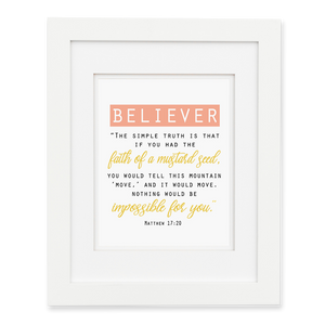 Believer - Solid Wall Print