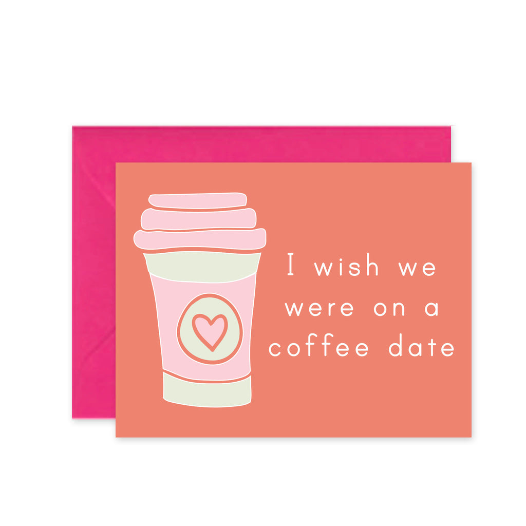 Coffee Date Coral - Greeting Card