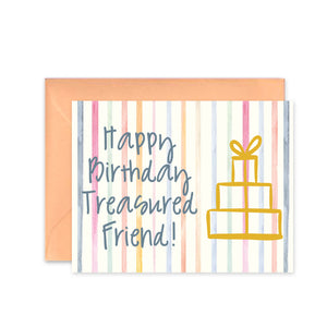 """Happy Birthday Treasured Friend"" - Greeting Card"