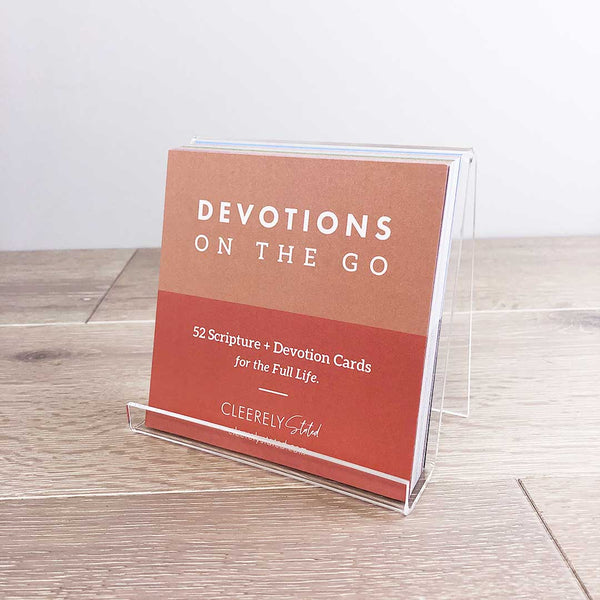 Devotions on the Go w/Acrylic Stand