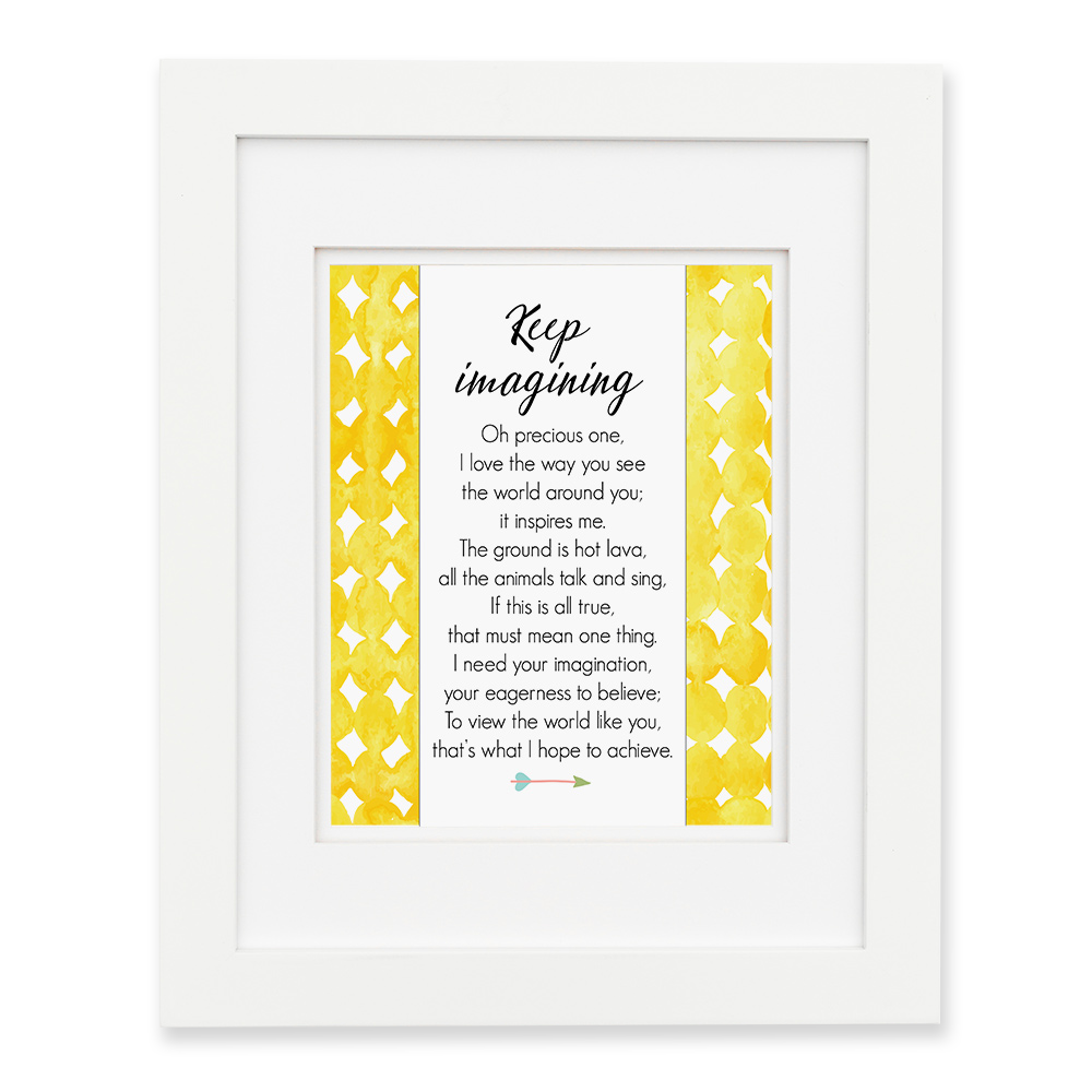 Keep Imagining - Yellow Wall Print