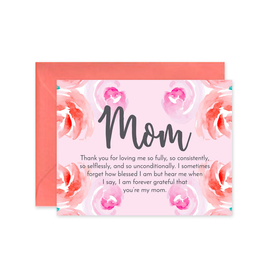 """Mom Floral"" - Greeting Card"