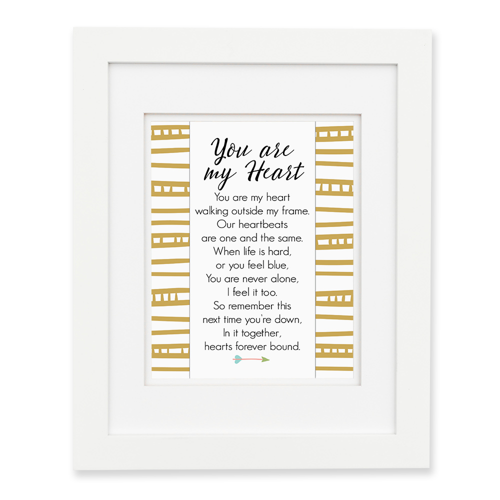 You Are My Heart - Gold Wall Print