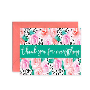 """Thank You for Everything Floral"" - Greeting Card"