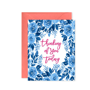 """Thinking of You Floral"" - Greeting Card"
