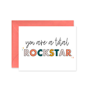 """Total Rockstar"" - Greeting Card"