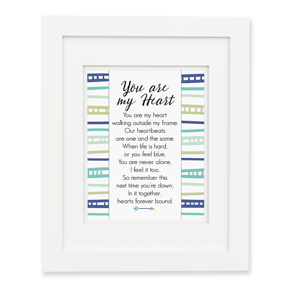 You Are My Heart - Blue Wall Print