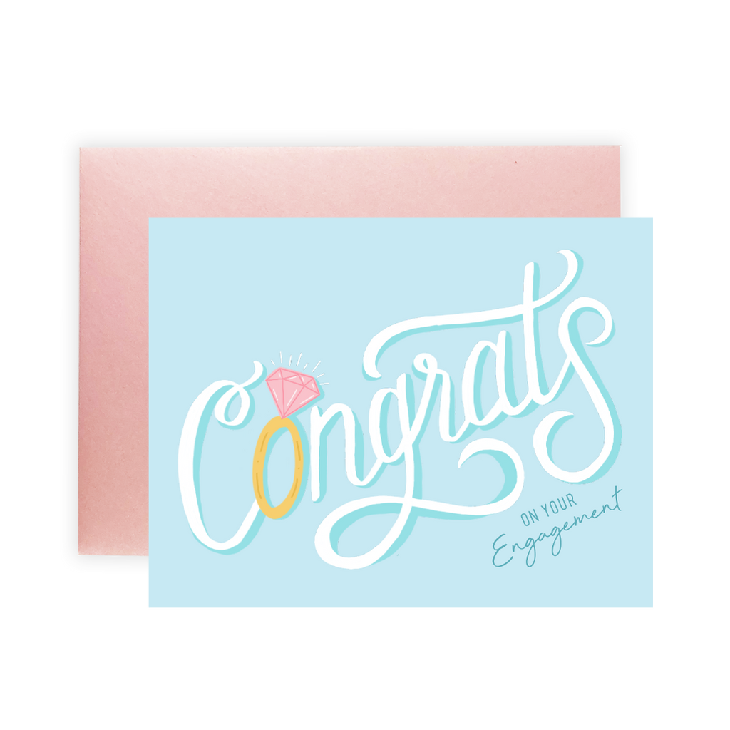 Congratulations On Your Engagement - Greeting Card