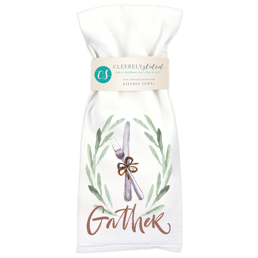 Gather Silverware - Kitchen Towel