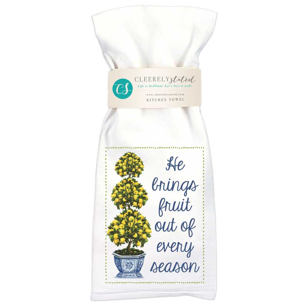 Lemon Topiary Kitchen Towel