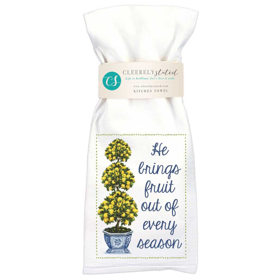 September Lemon Topiary Kitchen Towel