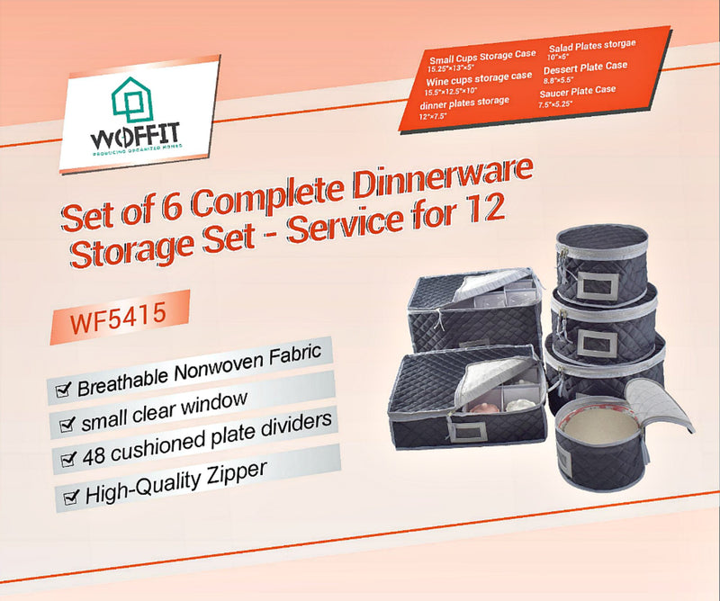 Luxurious Quilted U201cComplete Dinnerware Storage Set