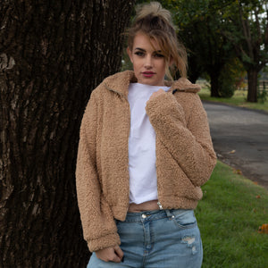 Teddy Jacket - Camel