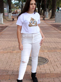 Jasmin Knee Ripped Jeans (White)