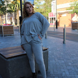 Olivia Loose Fit Top (Grey)