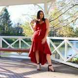 Jayde Dress - Wine