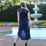 Yasmin Dress - Navy