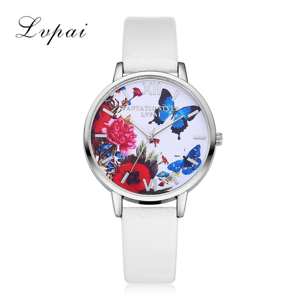 New Silver Butterfly Women Watches 2016 Brand Luxury Rose Gold Round Fashion Popular Wristwatch Female Quartz Watch Women Watch