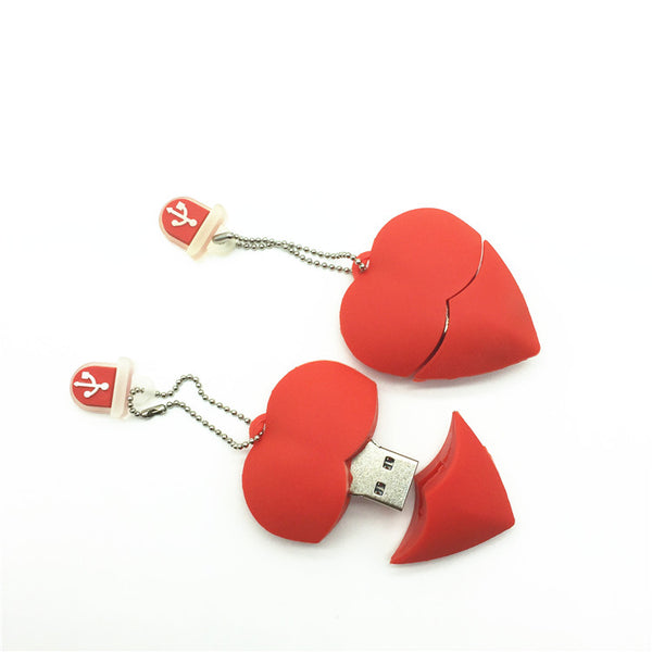 U Disk pen drive cartoon red heart best gift 4gb/8gb/16gb/32gb/64gb bulk usb flash drive flash memory stick pendrive mini