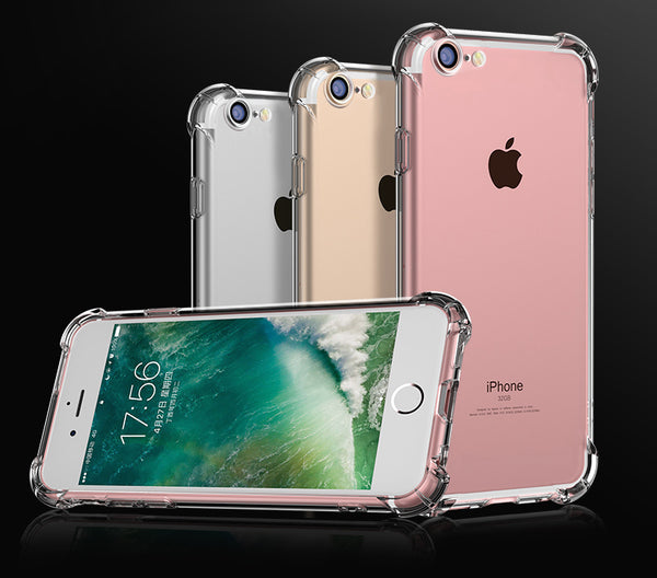 Anti Knock Case For iPhone 6 7 5 SE Coque for iPhone 6s Fundas Clear Back Silicon Phone Cases for iPhone X 8 6 7 Plus Capa