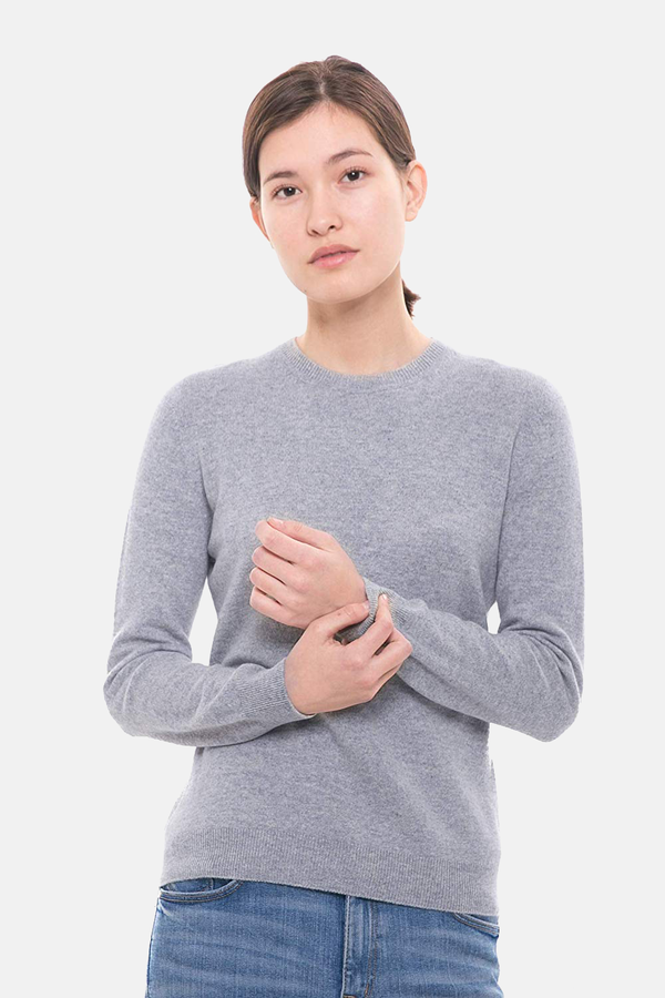 100% Pure Cashmere Sweater - Long Sleeve Crewneck Pullover - GOYO CASHMERE LLC