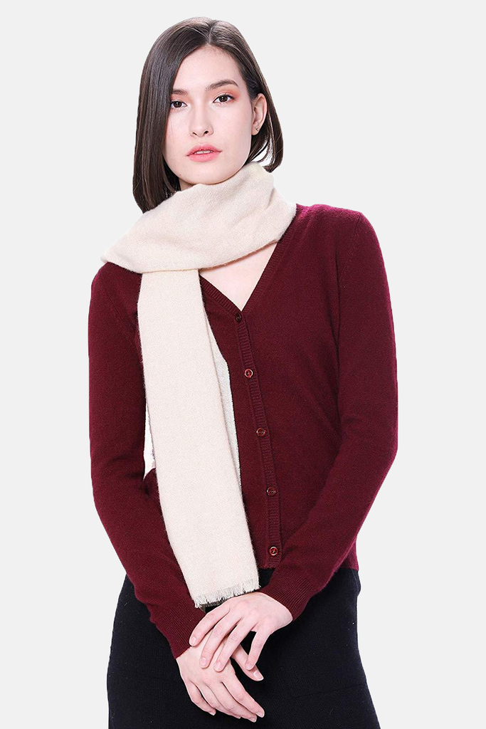 "100% Pure Cashmere Scarf - 71""x17"" Woven Cashmere Scarf - GOYO CASHMERE LLC"