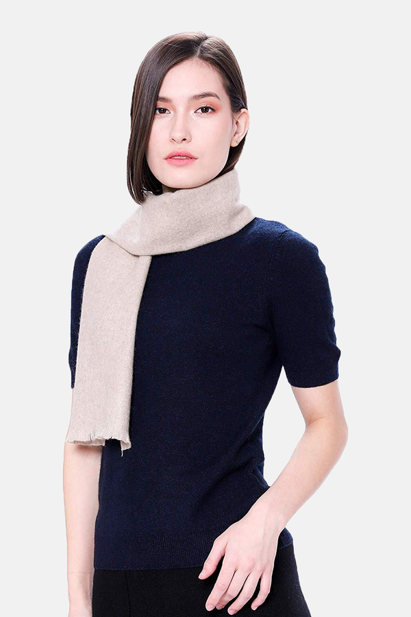 "100% Pure Cashmere Scarf - 59""x12"" Woven Cashmere Scarf - GOYO CASHMERE LLC"