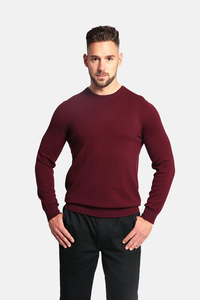 7211bb4432324a Men's 100% Pure Cashmere Sweater - Crew Neck Long Sleeve Pullover - GOYO  CASHMERE LLC