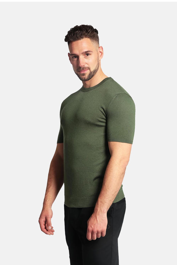 Men's 55% Silk & 45% Cashmere Shirt - Short Sleeve Round Neck Shirt - GOYO CASHMERE LLC