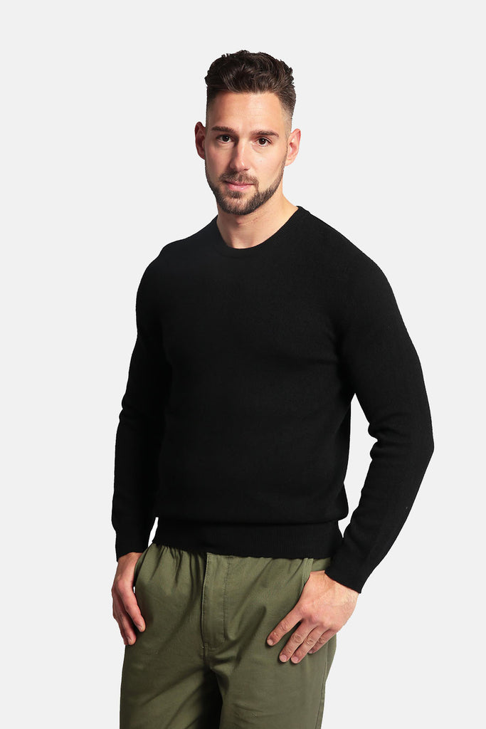 Men's 100% Pure Cashmere Sweater - Crew Neck Long Sleeve Pullover - GOYO CASHMERE LLC