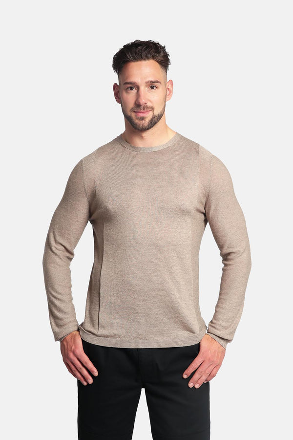 Goyo Cashmere Men's 55% Silk & 45% Cashmere Shirt - Long Sleeve Crewneck Shirt - GOYO CASHMERE LLC