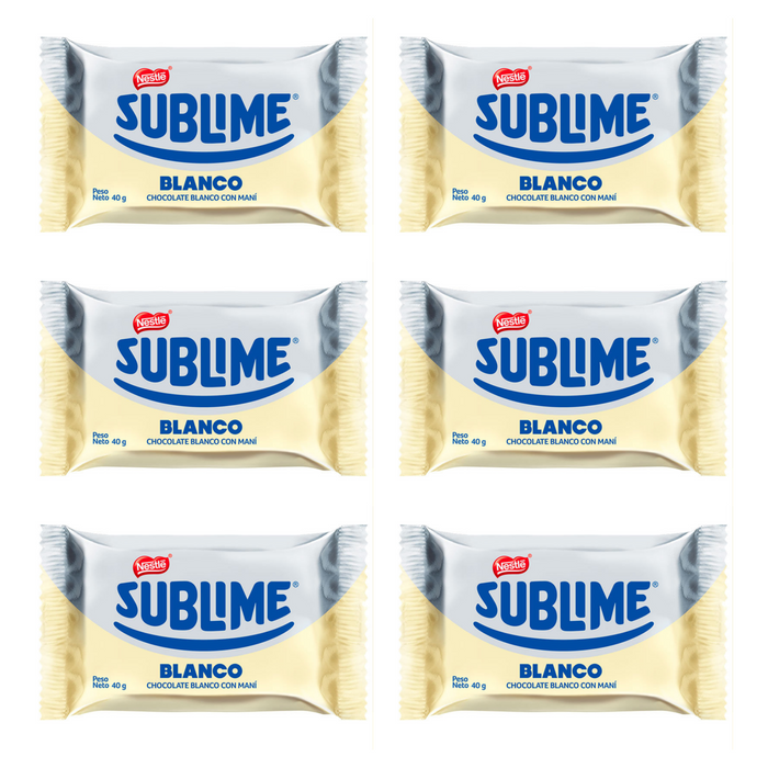 Chocolate Sublime Blanco - Pack 6x40gr